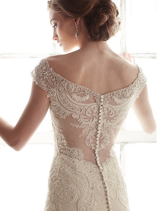 Taupe lace wedding dress images for Taupe lace wedding dress