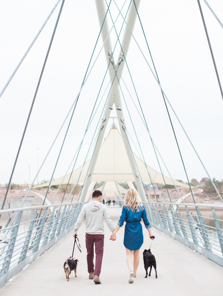 tempe engagement shoot with dogs