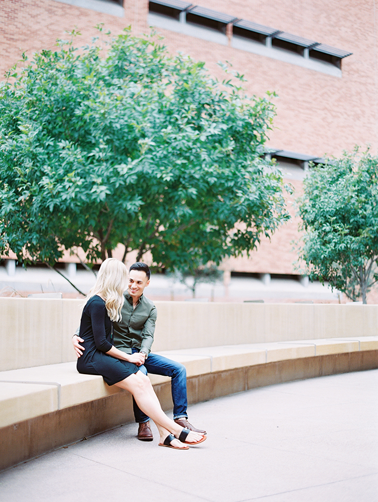engagement photos on the ASU campus