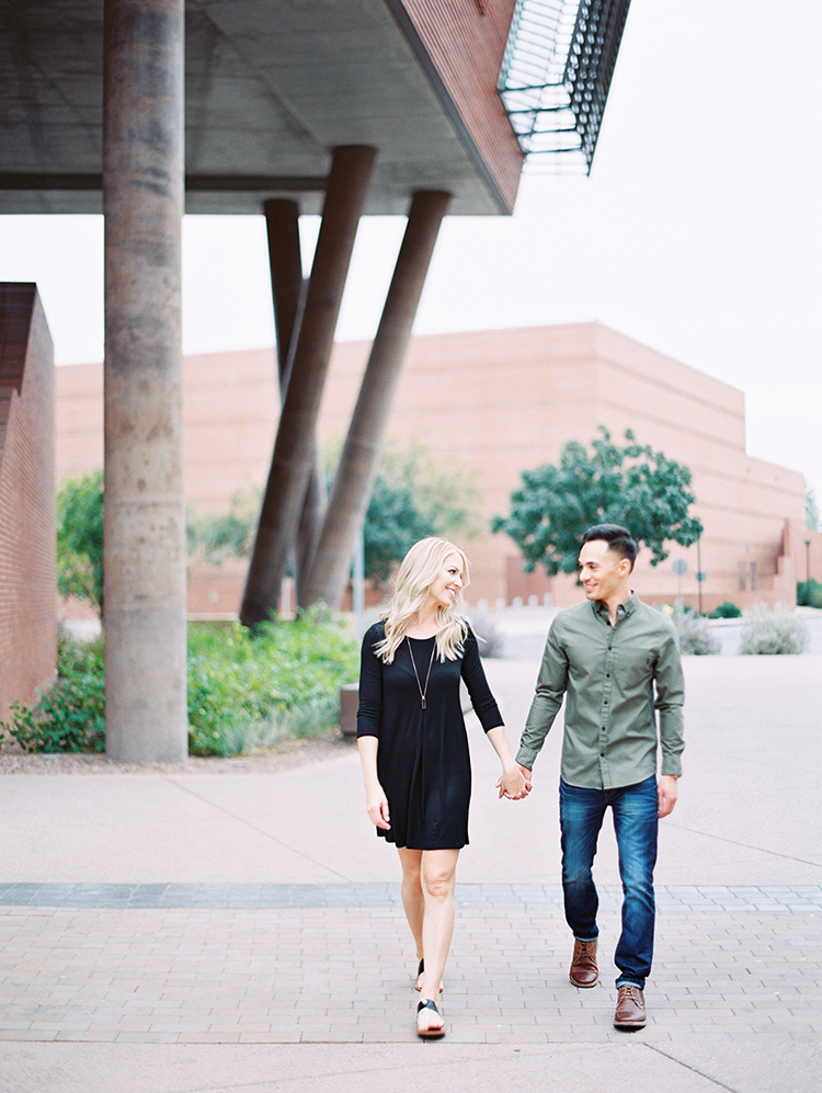engagement photos on campus