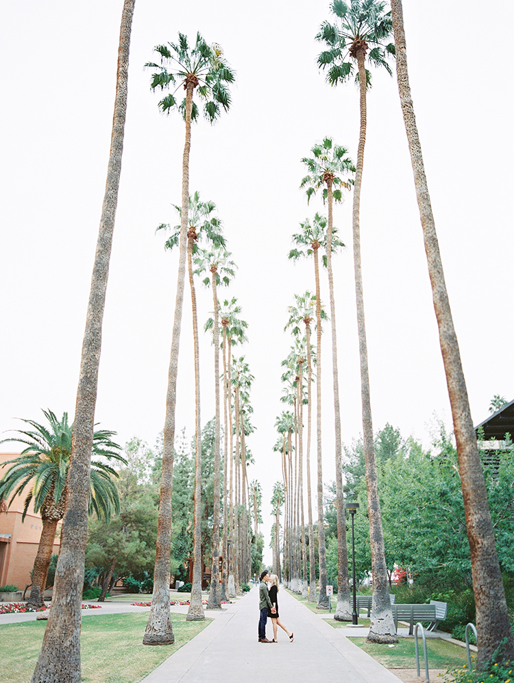 Palm Walk ASU engagement photos