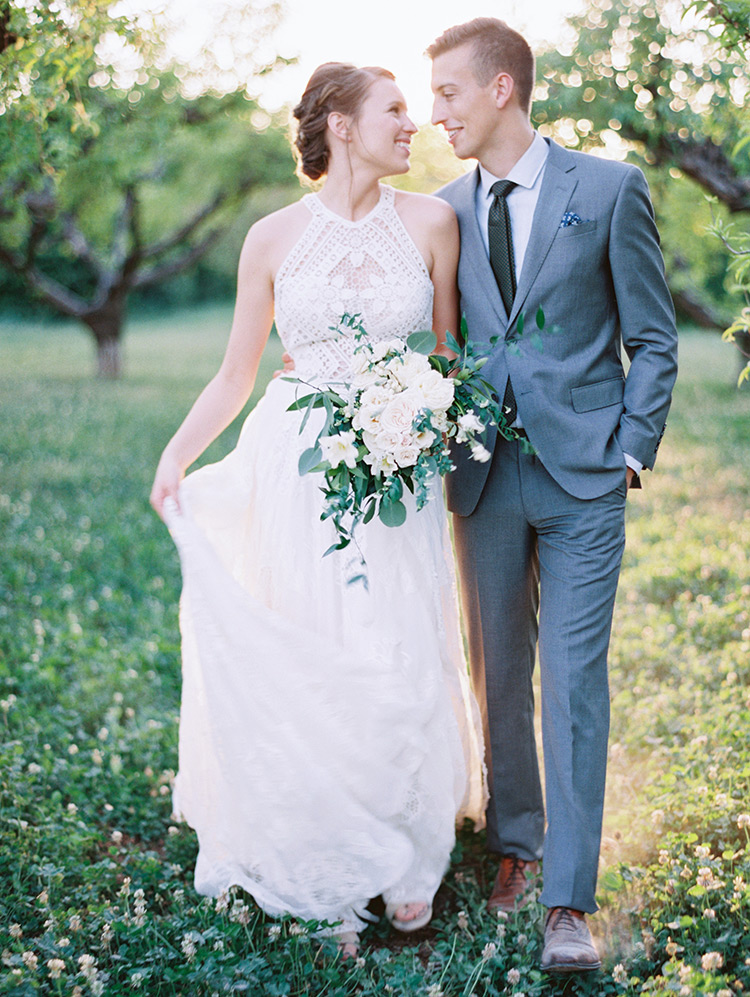 wedding at The Farm at Agritopia orchard