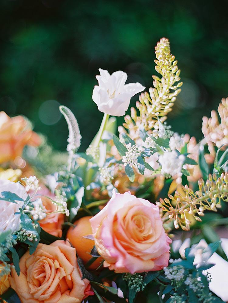 citrus colored flowers