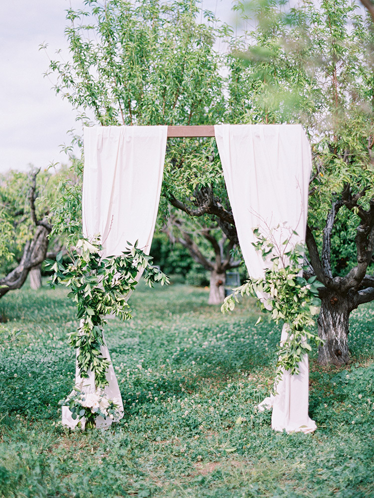 wedding arch at The Farm at Agritopia orchard