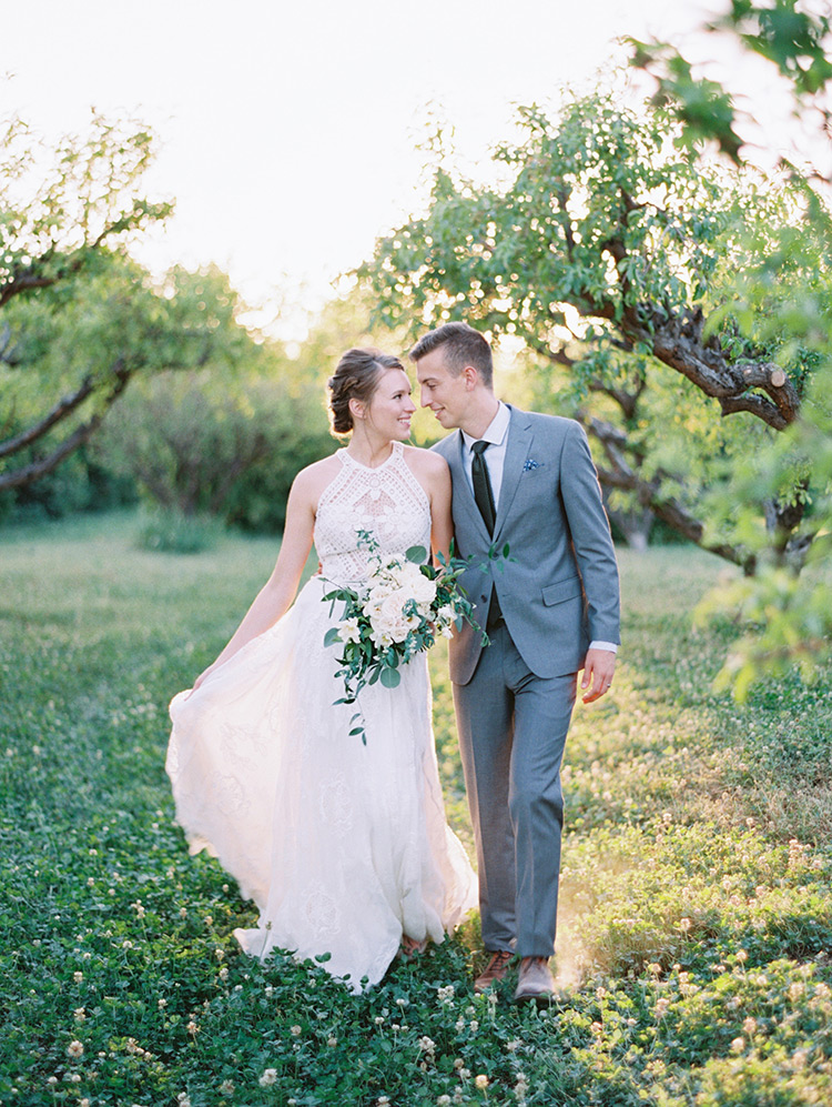 The Farm at Agritopia orchard wedding