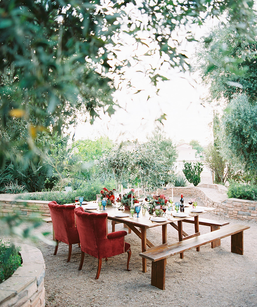 wine inspired wedding reception at The Farm at Agritopia