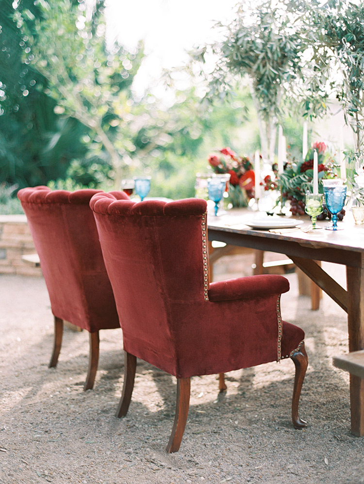 armchairs for the head table