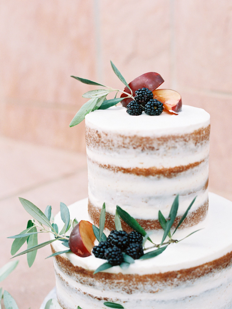 naked cake with suit by Caketini