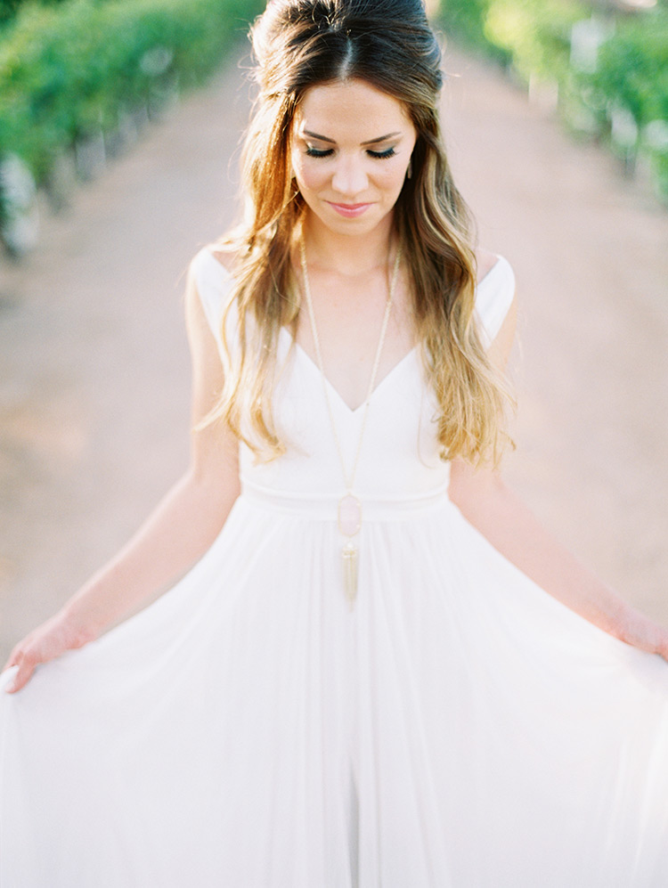 simple but dreamy wedding dress
