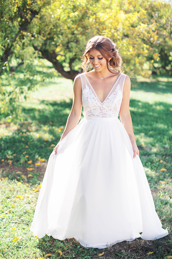 wedding dress by Made With Love