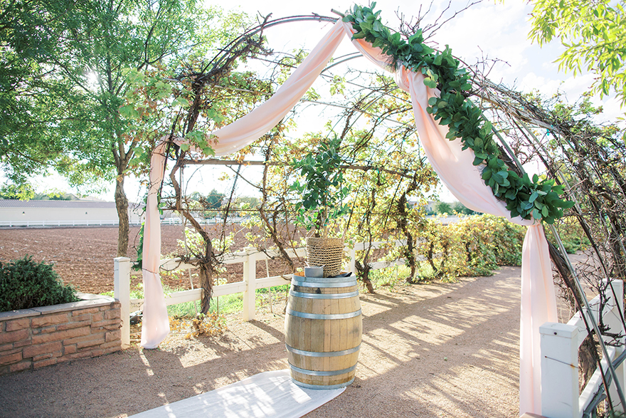 vineyard wedding ceremony at The Farm at Agritopia