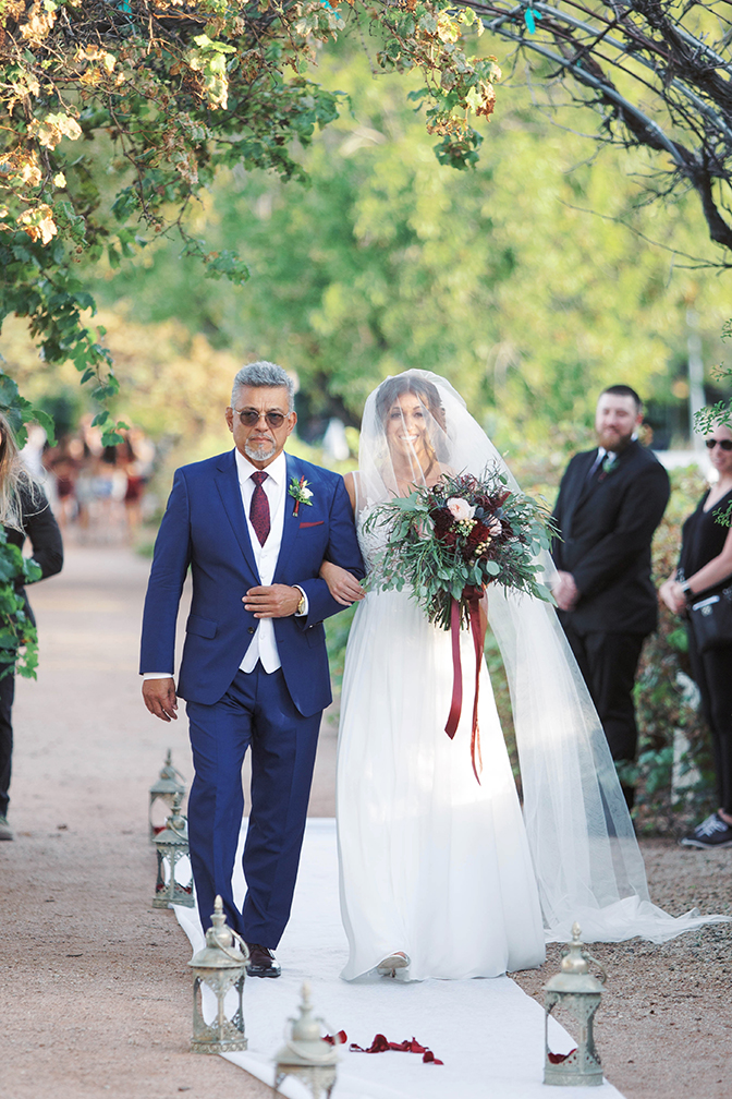 vineyard wedding ceremony at The Farm at Agritopia