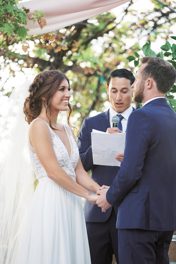 exchanging vows, Arizona wedding