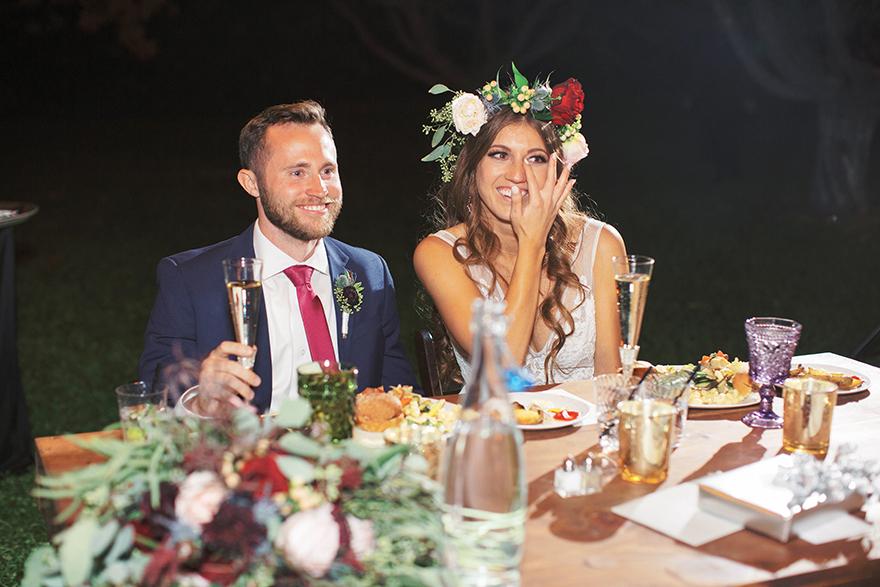 outdoor wedding reception at The Farm at Agritopia