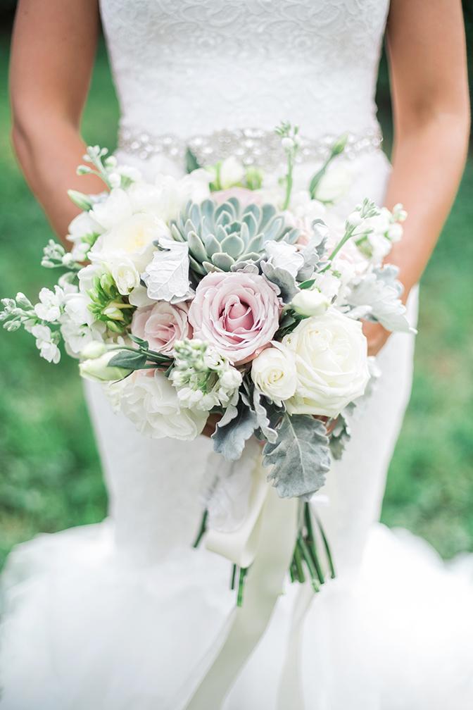 romantic bouquet with succulents