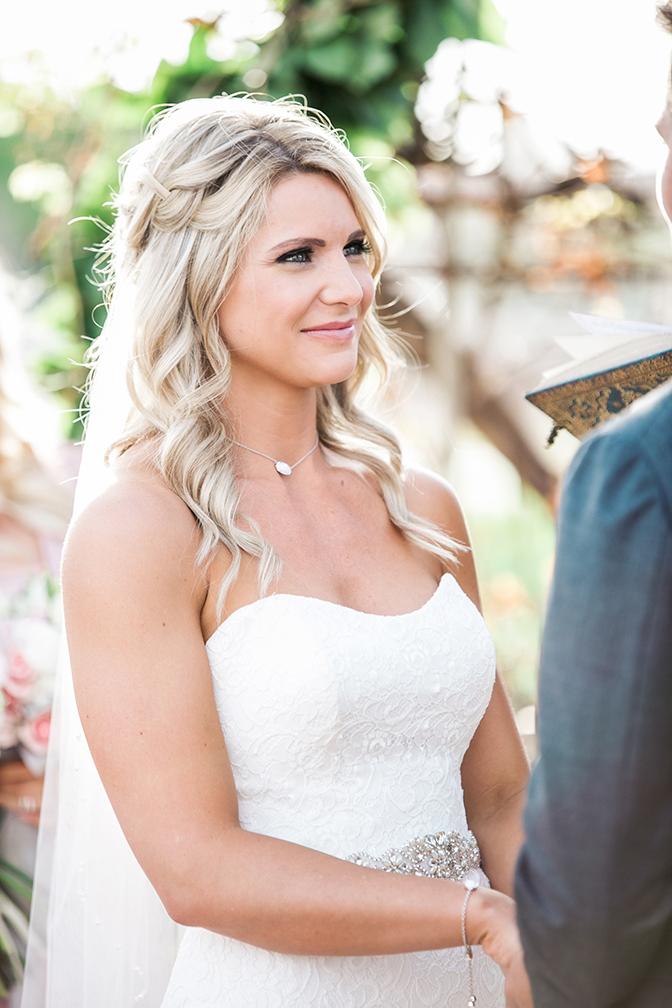 beautiful bride in lace