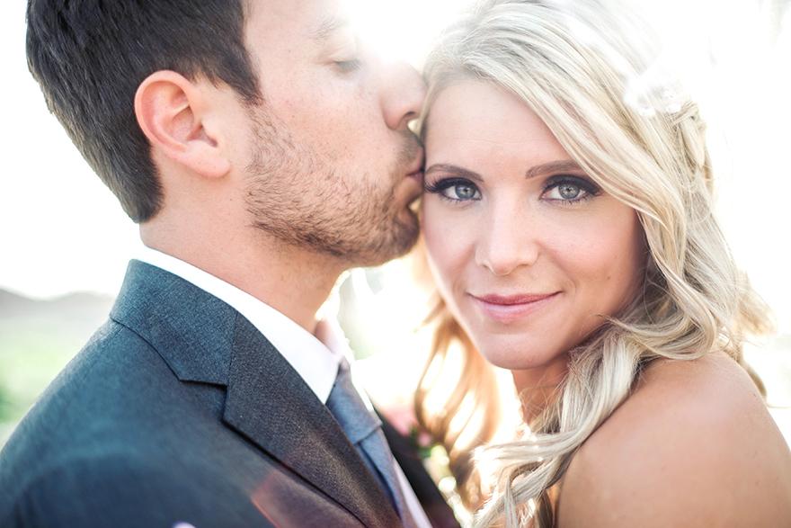 romantic bride & groom