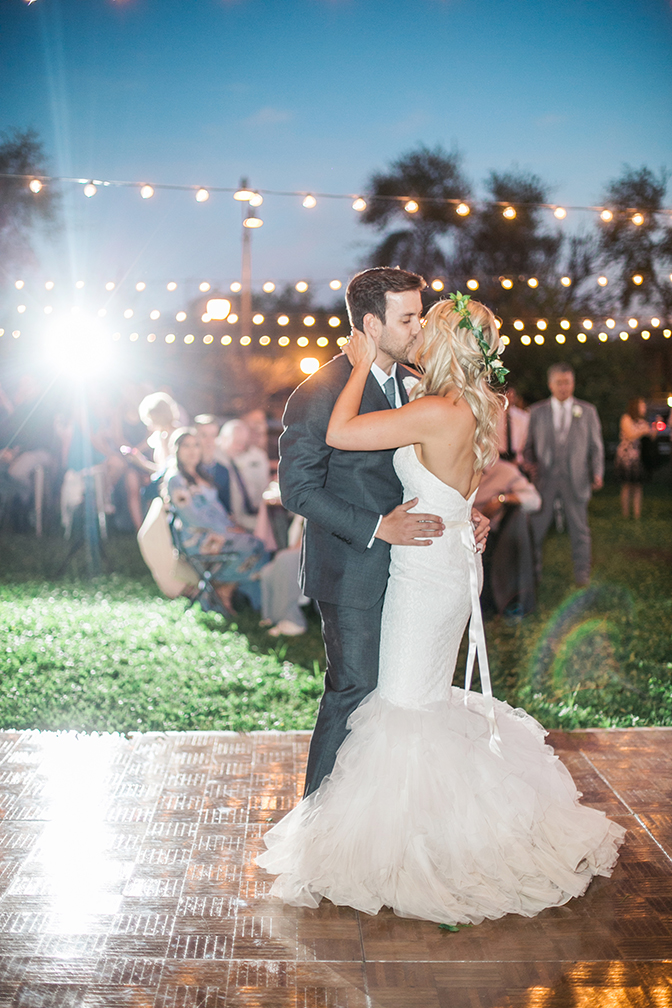 first dance for the bride & groom