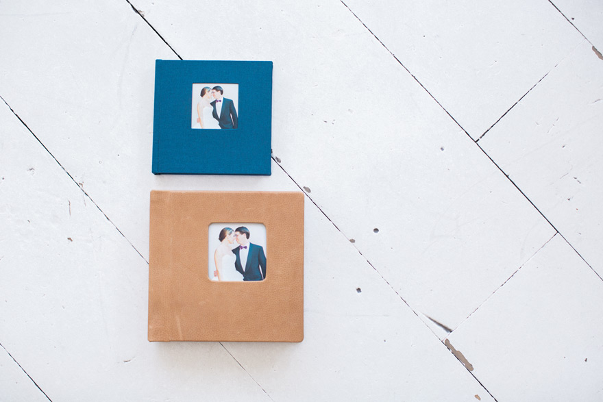 Leather Align Legacy Book with a linen parent album