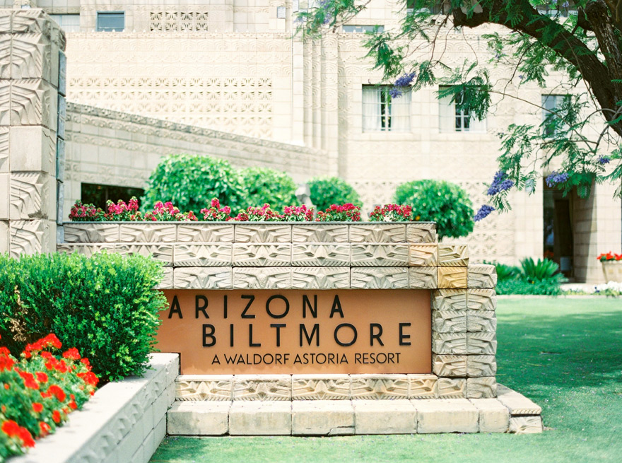 The Arizona Biltmore, a historic resort known as the Jewel of the Desert. Frank Lloyd Wright.