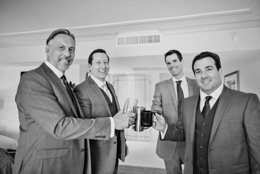 a toast from the groomsmen