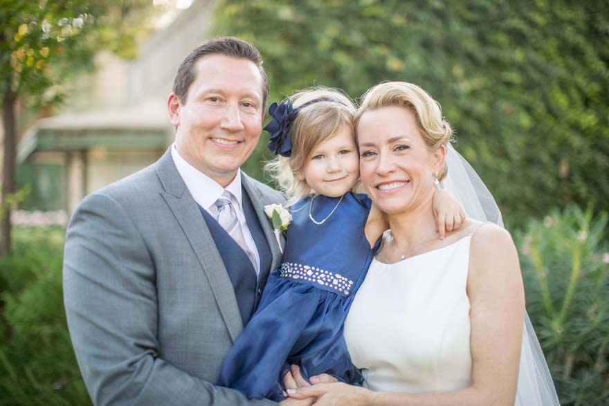 happy family on the wedding day