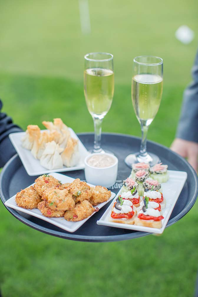 tasty & elegant hors d'oeuvres at an Arizona Biltmore wedding
