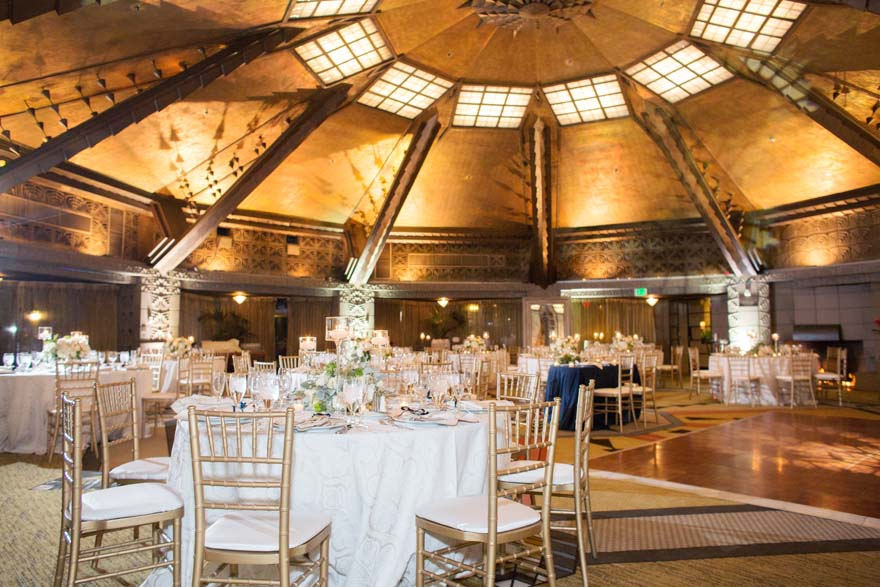 wedding reception within the unique architecture of the Arizona Biltmore