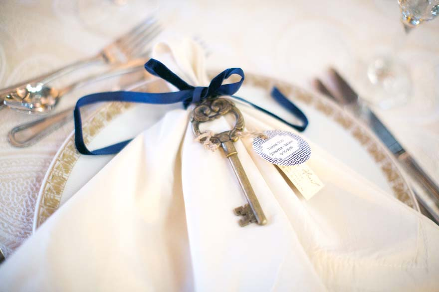 antique key wedding favor