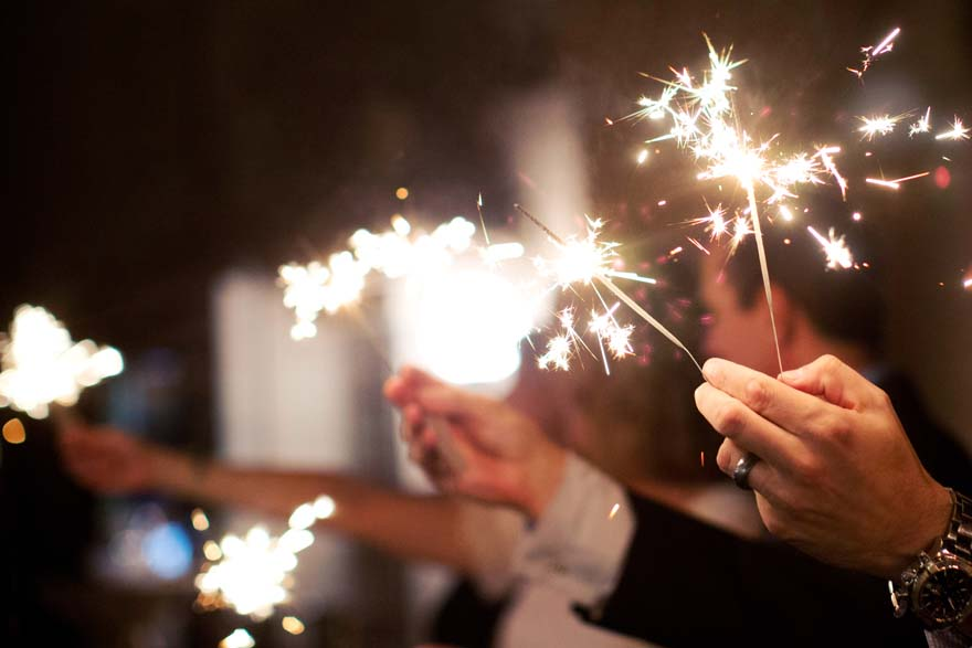 sparklers light up the night