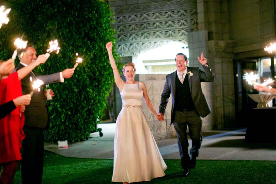sparkler exit for the happy couple