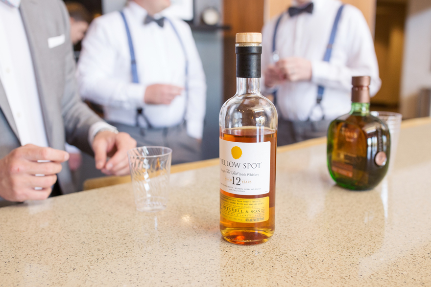 drinks for the groomsmen