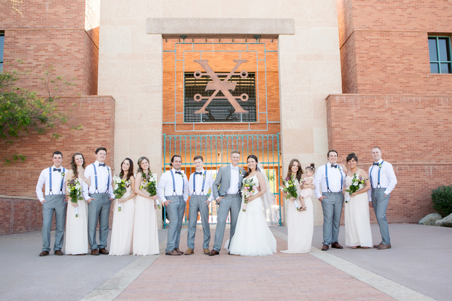 Rustic bridal party at the Arizona Heritage Center