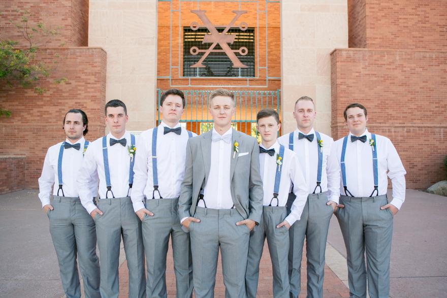 Rustic, dapper groomsmen at the Arizona Heritage Center