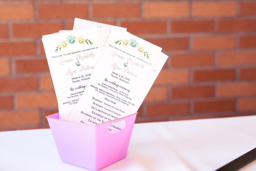 charming ceremony programs with floral details