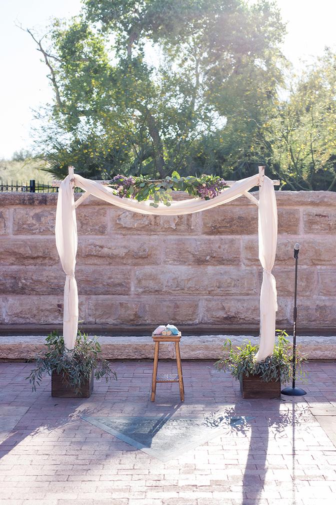 outdoor wedding ceremony at the Arizona Heritage Center