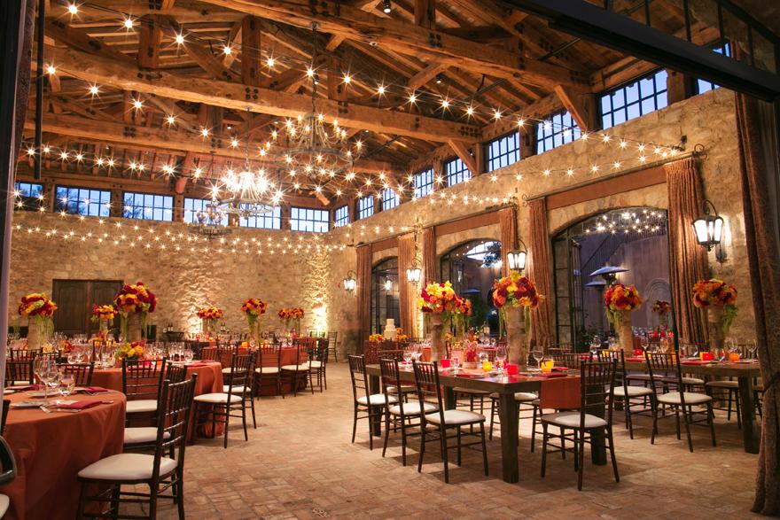 Wedding reception in the ballroom at Silverleaf Club