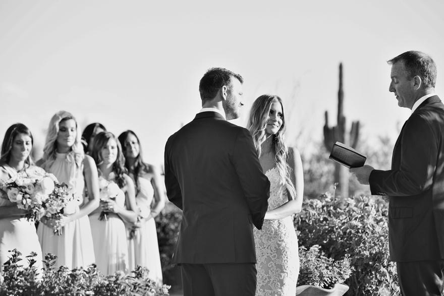 Wedding couple say their vows