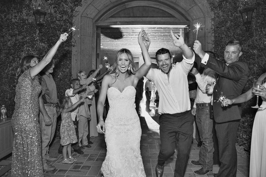 Sparkler exit for the bride & groom