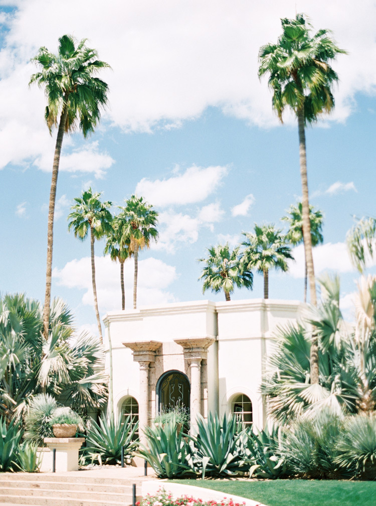 wedding in a private paradise valley home