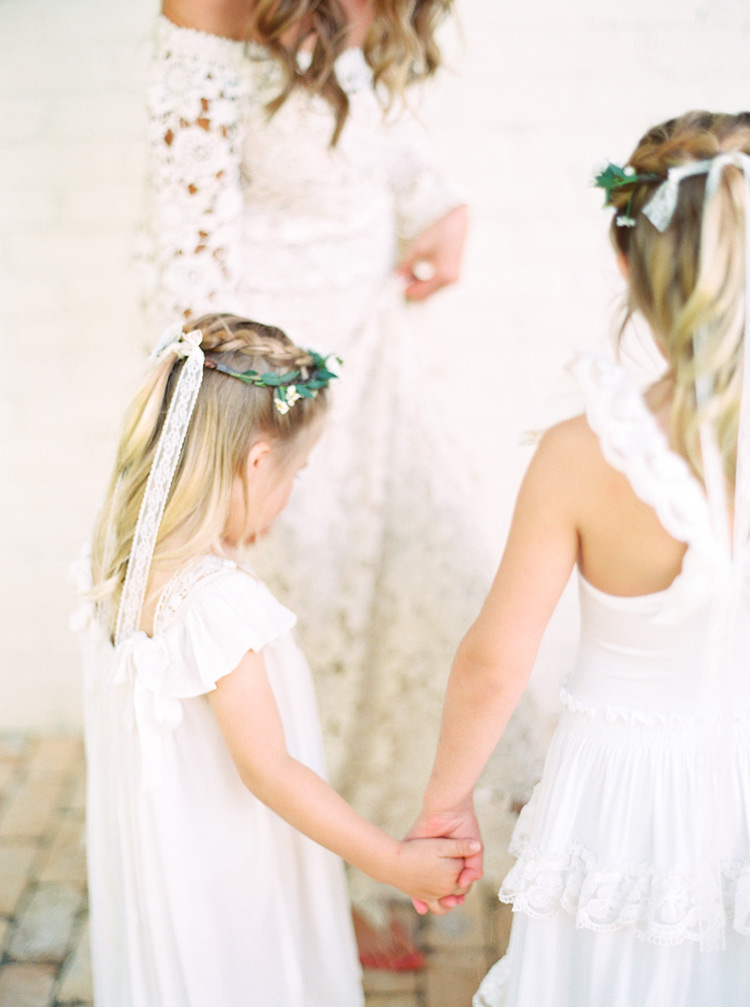 flower girls for a bohemian wedding