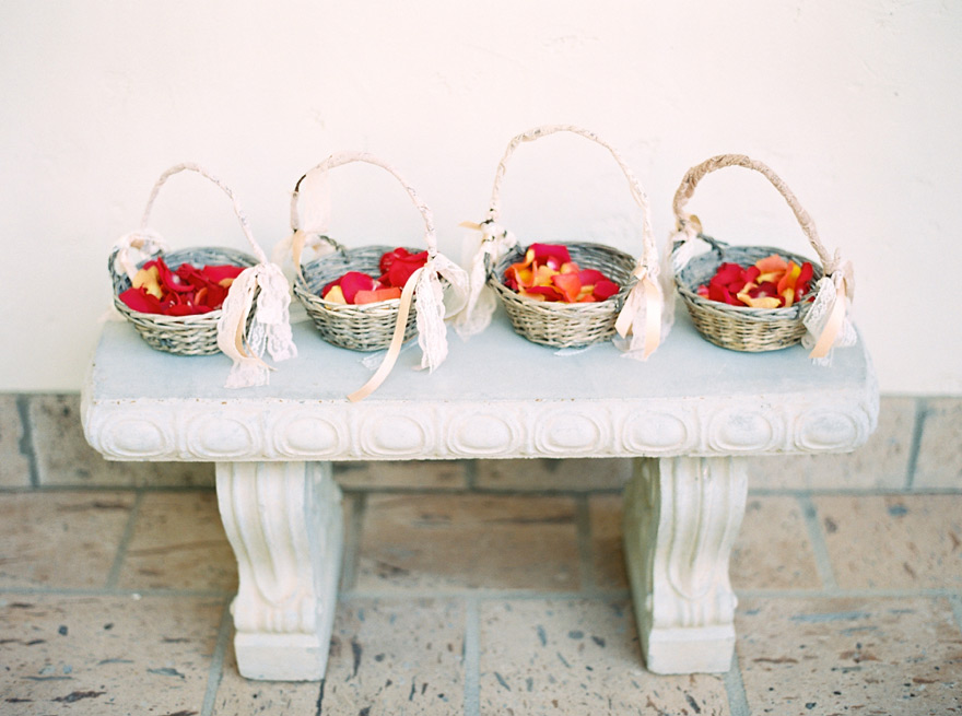 flower girl baskets for a bohemian wedding