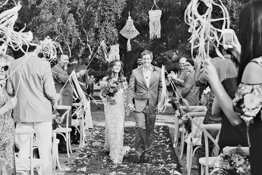 ribbon wavers for a ceremony recessional
