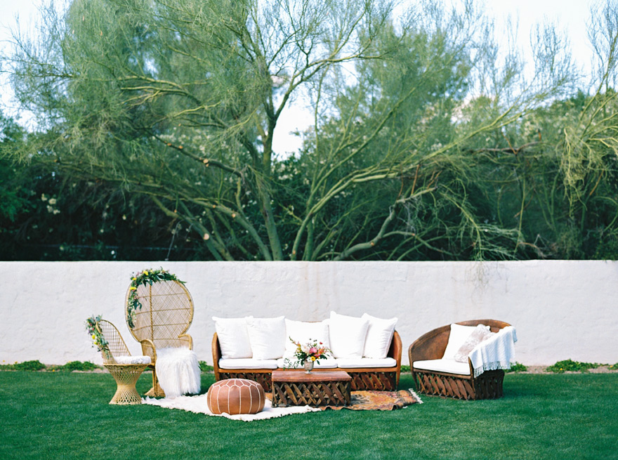 bohemian wedding lounge furniture