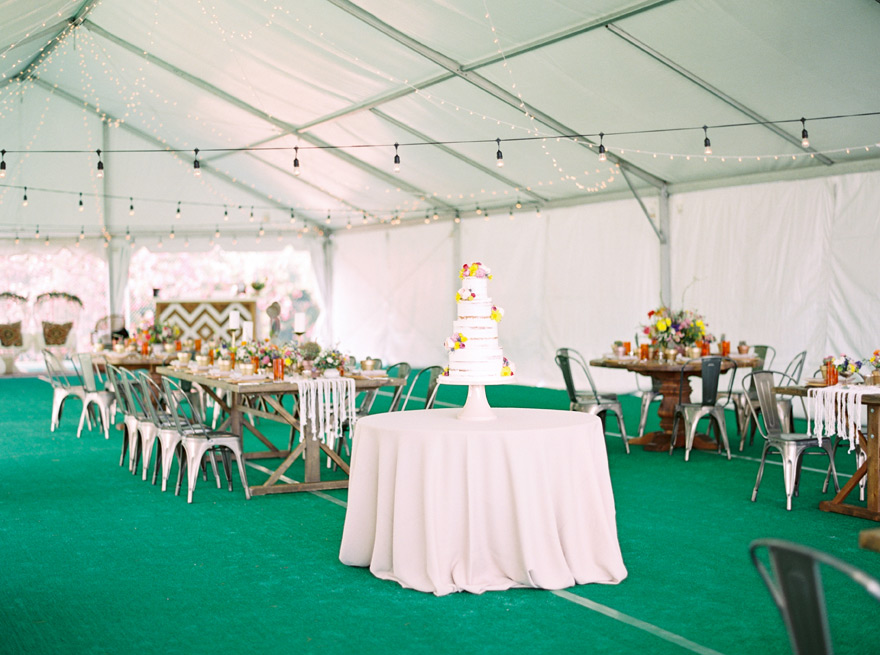 bohemian wedding in a tent