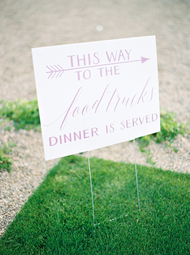 wedding signage for food truck dinner