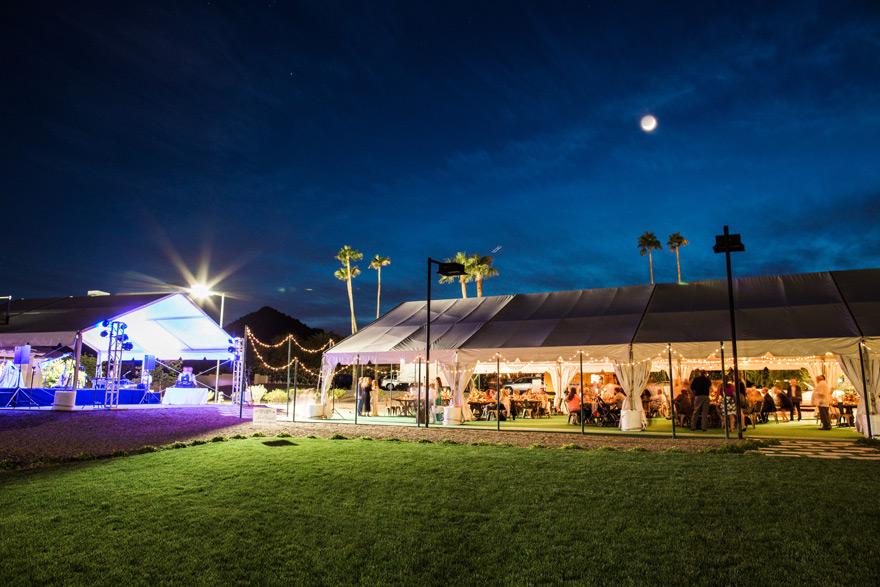 tented reception for outdoor bohemian wedding reception