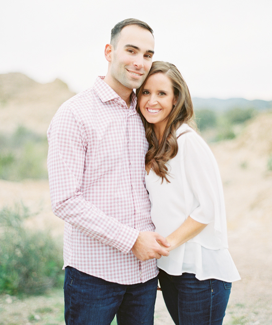 Arizona desert engagement shoot at Boyce Thompson Arboretum