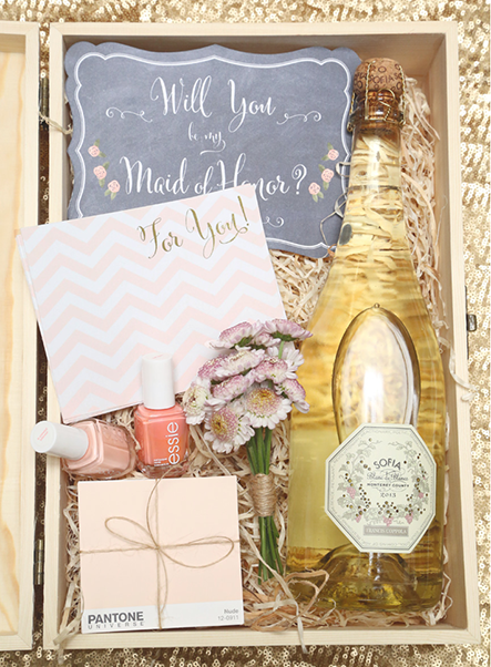 Diy Gift Box For Asking Your Bridesmaids To Be Part Of Wedding Bridesmaid Proposal