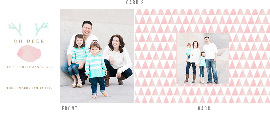 Adorable holiday card with watercolor details